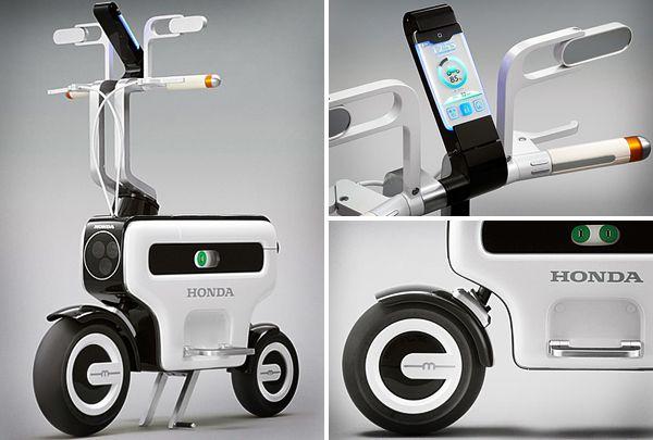 Honda патентова електрически скутер Motocompacto