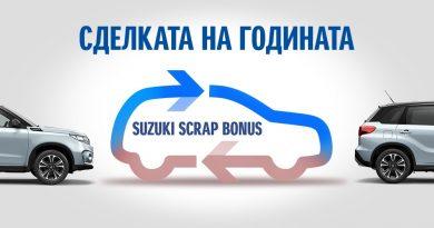 Скрапинг бонус за клиентите на SUZUKI в България